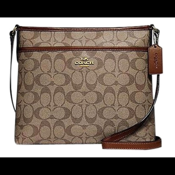 Coach Handbags - Coach Signature Crossbody Jacquard